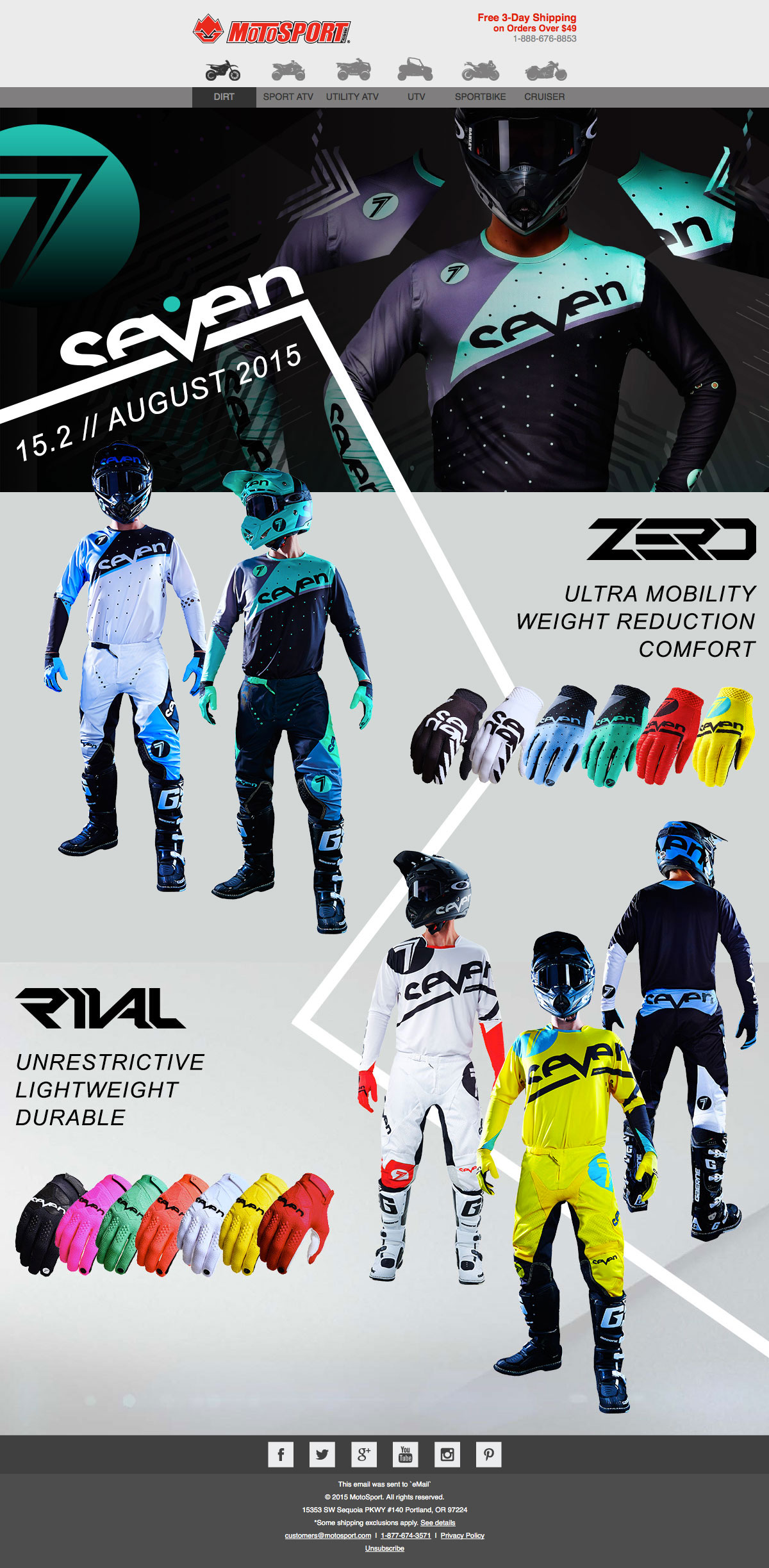 Motosport Seven Brand email design