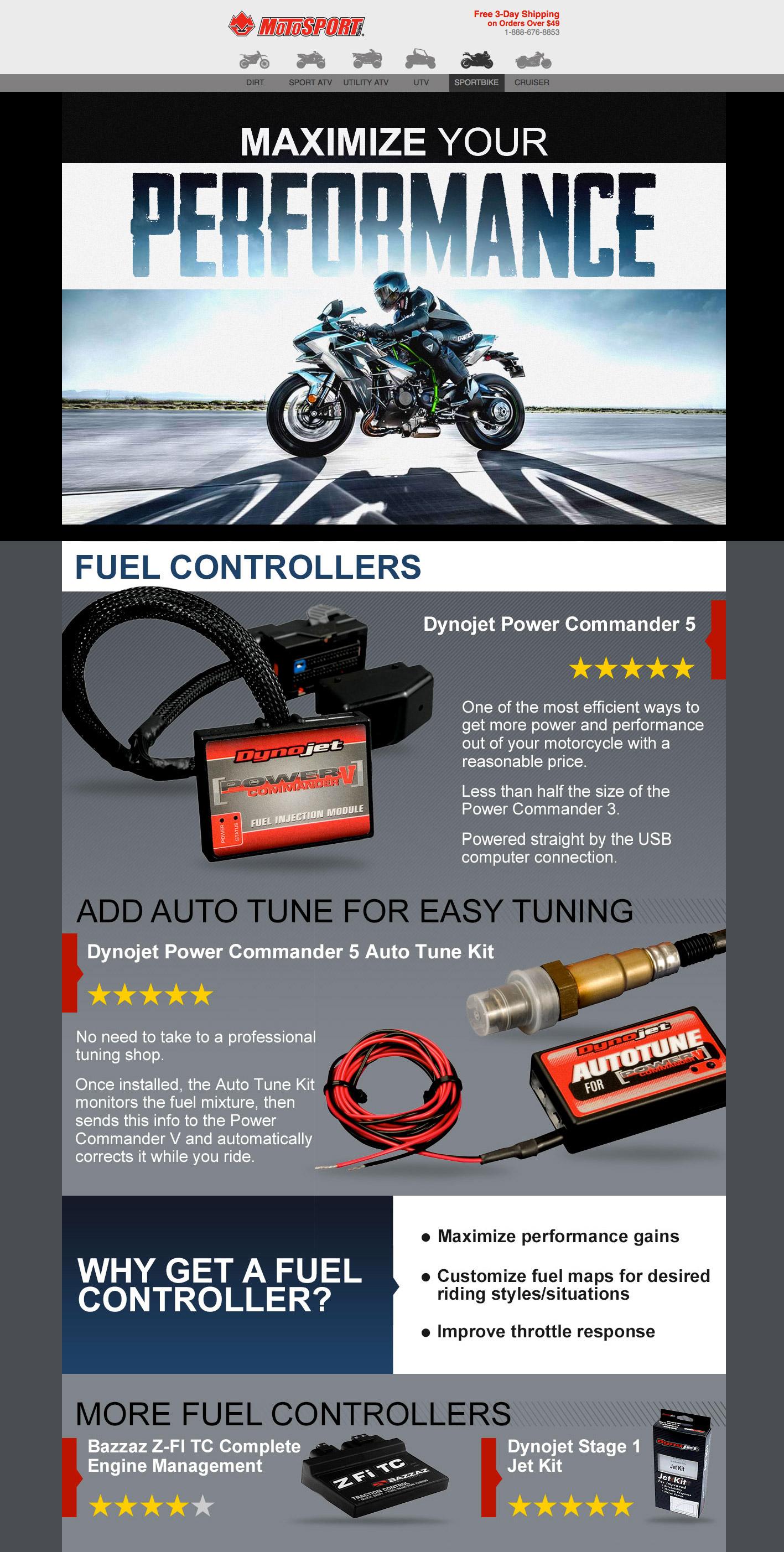 Motosport Sportbike Performance email design